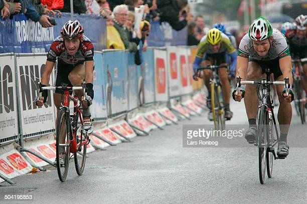 Tour of Denmark stage 1 Andre Greipel Team Wiesenhof on secondplace in front of KurtAsle Arvesen Team CSC