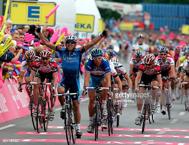 Tour of Germany stage 5 Allan Davis Liberty Seguros wins the stage in front of Danilo Hondo Gerolsteiner Steffen Radochla Baleares Banesto Jens Voigt...