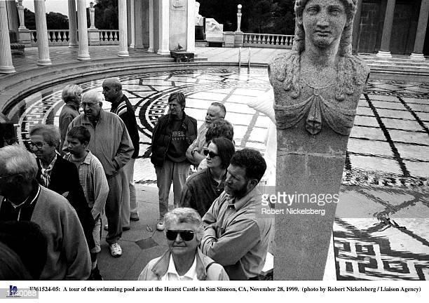 A tour of the swimming pool area at the Hearst Castle in San Simeon CA November 28 1999