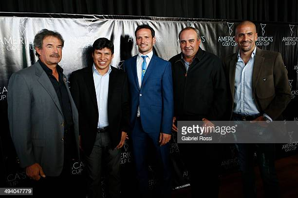 PGA Tour players Carlos Franco and Andres Romero CEO of America's Golf Cup Lisandro Borges PGA Tour player Angel Cabrera and former player Juan...