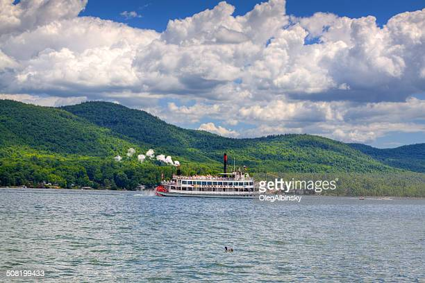 Tour Steam Boat sailing in Lake George, NY.