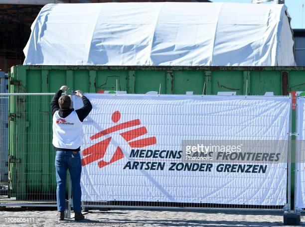 ouverture du centre de triage d'accueil et d'hébergement de MSF pour les populations vulnérables exclues du système de réponse contre le Covid19...