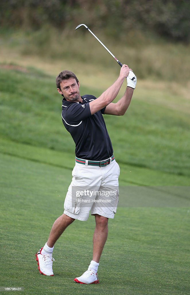 Tour tennis player Juan Carlos Ferrero in action during the pro-am for the Open de Espana at Parador de El Saler on April 17, 2013 in Valencia, Spain.