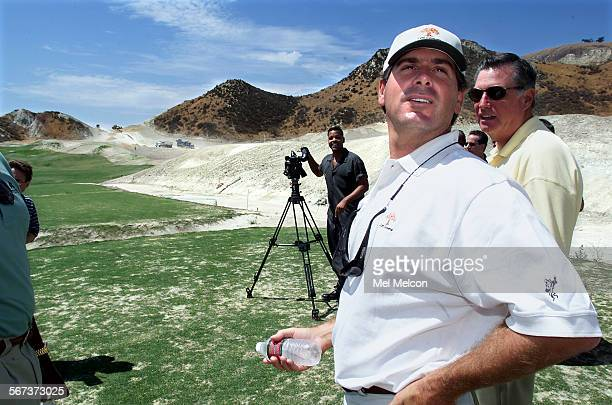 PGA tour veteran Fred Couples looks over the course in between talking to the media while standing in tee box area for 1st hole of the Shadow Course...