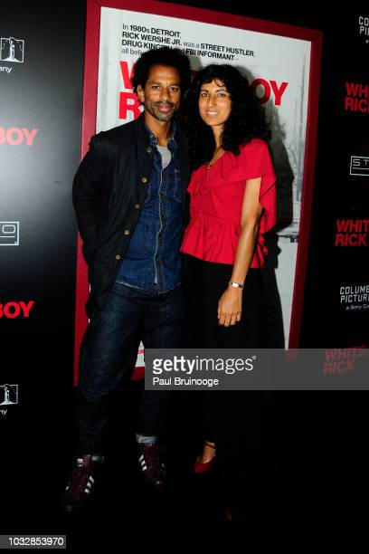 Toure and Rita Nakouzi attend Columbia Pictures And The Cinema Society With Wild Turkey Longbranch Host A Special Screening Of White Boy Rick at the...