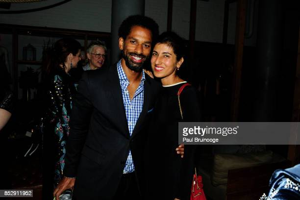 Toure and Rita Nakouzi attend NBC Vanity Fair host a party for Will Grace at Mr Purple at the Hotel Indigo LES on September 23 2017 in New York City