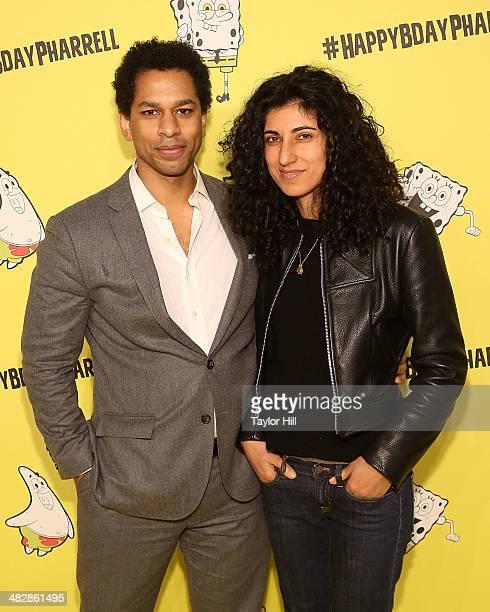 Toure and Rita Nakouzi attend Pharrell Williams' SpongeBobthemed 41st birthday party at Bikini Bottom at Cipriani Wall Street on April 4 2014 in New...