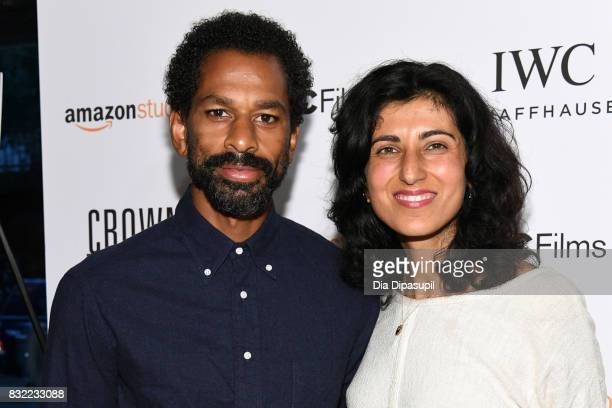 Toure and Rita Nakouzi attend the Crown Heights New York premiere at Metrograph on August 15 2017 in New York City