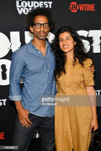 Toure and Rita Nakouzi attend The Loudest Voice New York Premiere at Paris Theatre on June 24 2019 in New York City