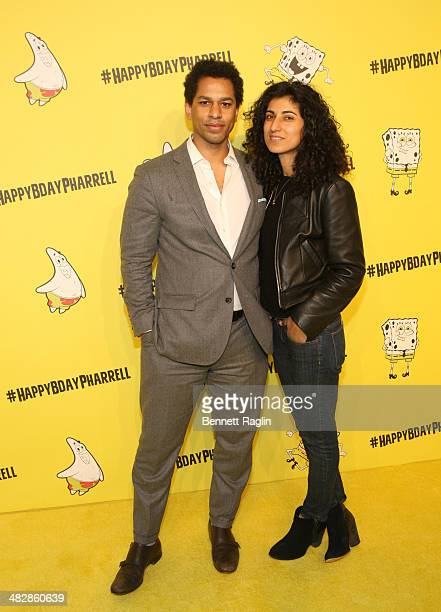 Toure and Rita Nakouzi attends Pharrell Williams' 41st Birthday Celebration at Cipriani Wall Street on April 4 2014 in New York City