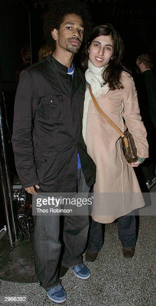 Toure and Rita Nakouzi attends Svedka's Dazed Confused party at Marritime lounge during the Olympus 2004 Fashion Week February 10 2004 in New York