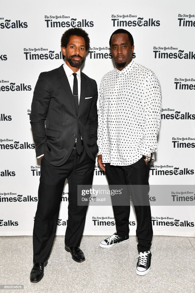 Toure (L) and Sean 'Diddy' Combs attend TimesTalks Presents: An Evening with Sean 'Diddy' Combs at The New School on September 20, 2017 in New York City.
