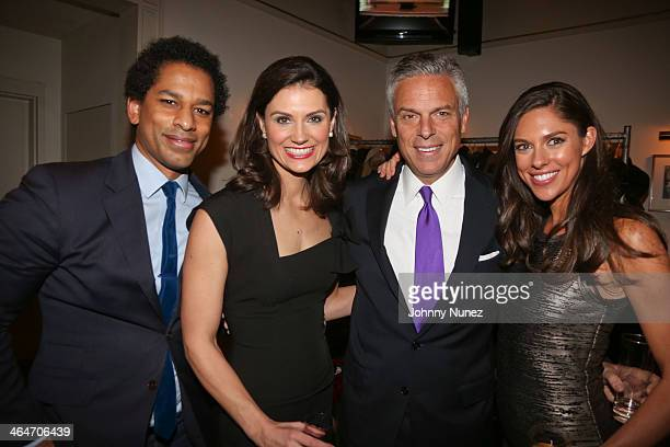 Toure Krystal Ball Jon Huntsman Jr and Abby Hunstman attend at Carnegie Hall on January 23 2014 in New York City