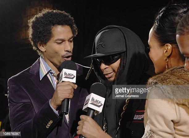 Toure of BET News, Lil Jon, Danella of BET News during 2006 BET Hip-Hop Awards - Black Carpet at Fox Theatre in Atlanta, Georgia, United States.