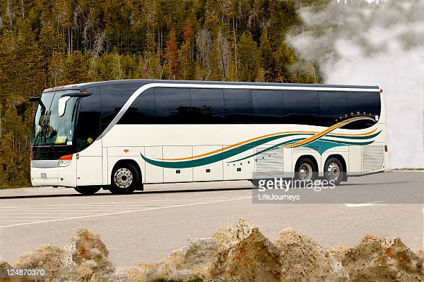 touring america ii - coach bus stock photos and pictures