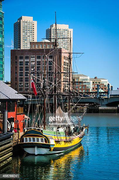 touring the eleanor - boston tea party stock photos and pictures