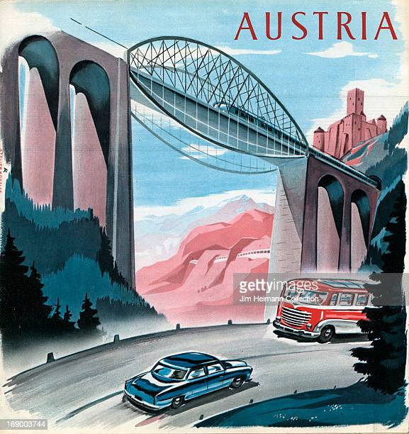 A tourism brochure for Austria from 1950 in Austria