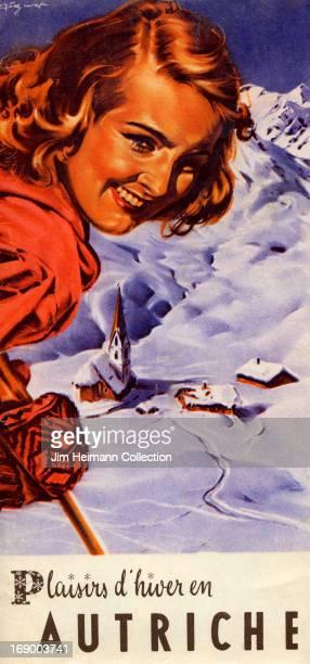 A tourism brochure for Austria reads 'Plaisirs d'Hiver en Autriche' from 1947 in Austria