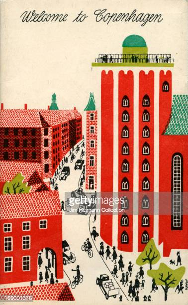 A tourism brochure for Copenhagen reads Welcome to Copenhagen from 1957 in Denmark