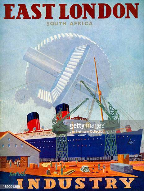 A tourism brochure for East London by South African Railways Airways and Harbours reads East London South Africa and Industry from 1934 in South...