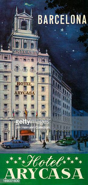 A tourism brochure for Hotel Arycasa in Barcelona from 1950 in Spain