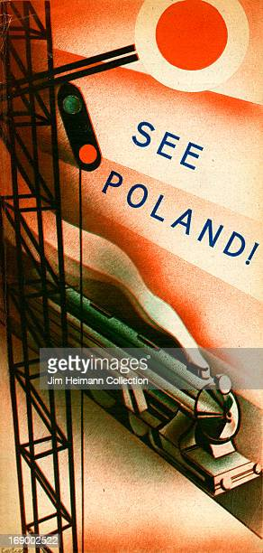 A tourism brochure for Poland reads 'See Poland' from 1935 in Poland