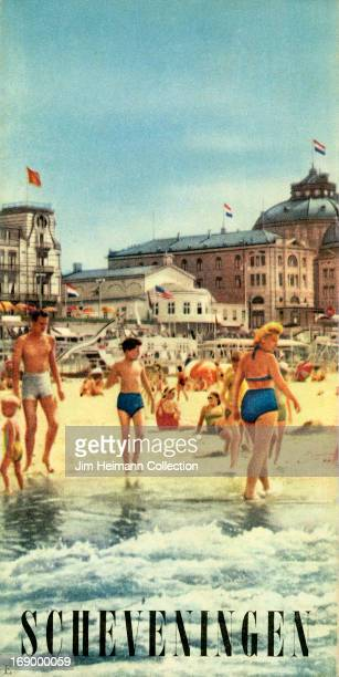 A tourism brochure for Scheveningen in The Hague from 1955 in the Netherlands