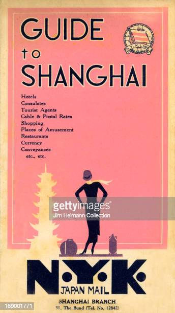 A tourism brochure for Shanghai by NYK Japan Mail reads 'Guide to Shanghai NYK Line' from 1932 in China