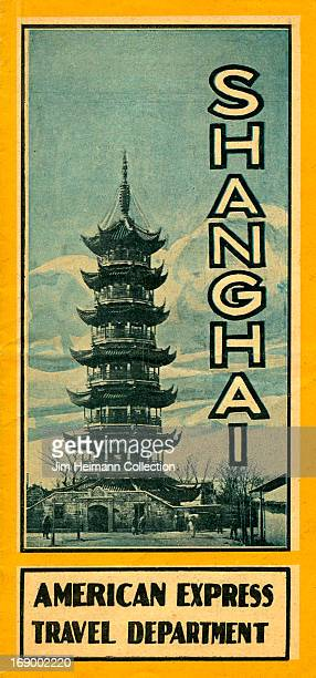 A tourism brochure for Shanghai from the American Express Travel Department from 1930 in China