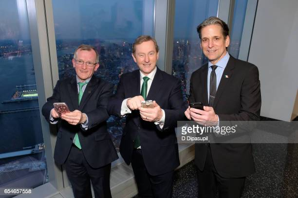Tourism Ireland CEO Niall Gibbons Irish Prime Minister Enda Kenny and Legends General Manager and Vice President John Urban attend as Tourism Ireland...