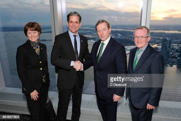 Tourism Ireland Executive Vice President Alison Metcalfe Legends General Manager and Vice President John Urban Irish Prime Minister Enda Kenny and...