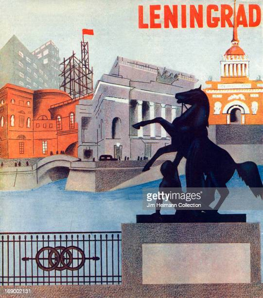 A tourism poster for Leningrad from 1930 in Russia