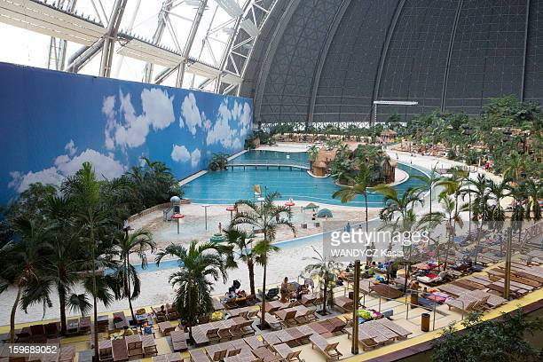 WASSERBURG BRANDBOURG GERMANY JANUARY 12 Tourism The water park Tropical Island Resort at 60 km from Berlin housed in a huge disused warehouse the...
