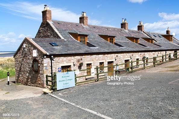 Tourist accommodation at Budle Bay, Northumberland coast, England