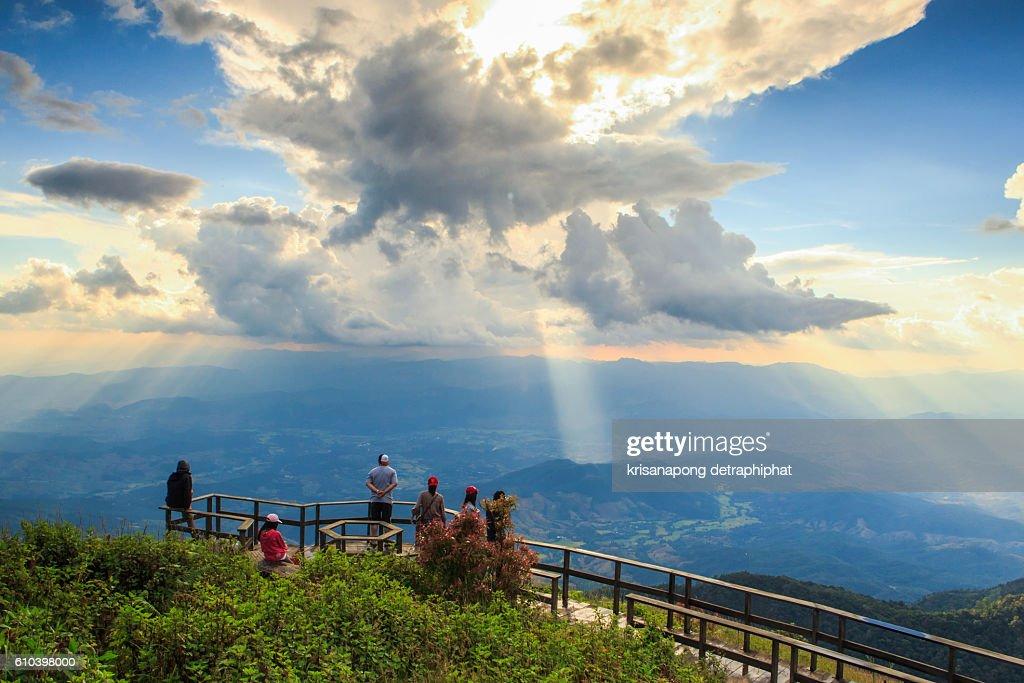 Tourist activities on Kew Mae Pan Doi Inthanon,Thailand. : Stock Photo