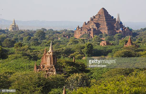 Tourist and local people visit the Dhammayazika Pagoda in the historical zone Bagan with thousands of pagodas and temples on December 09 2016 in...