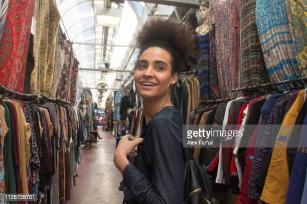 tourist at a flea market - beautiful israeli women stock pictures, royalty-free photos & images