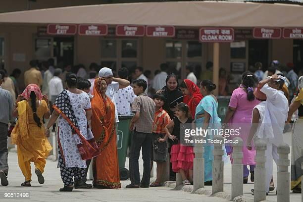 Tourist at Akshardham Temple in New Delhi