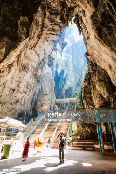 Tourist at Batu caves temple, Kuala Lumpur, Malaysia