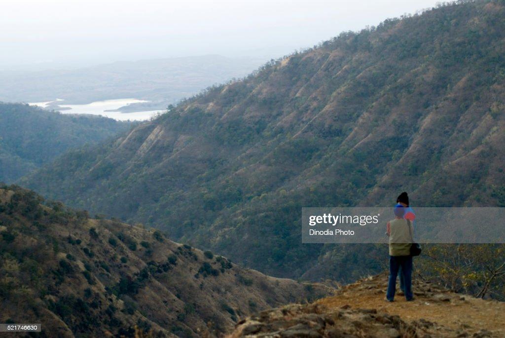 Tourist At Bhimkund Point In Morning At Chikhaldara District