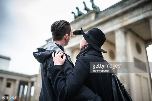 Tourist am MSC Bike Experience in Berlin eine selfie