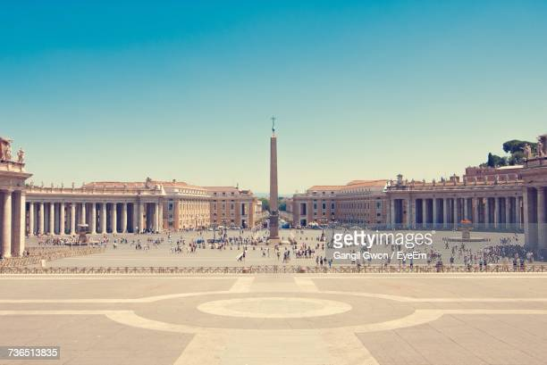Tourist At St Peter Square Against Clear Sky