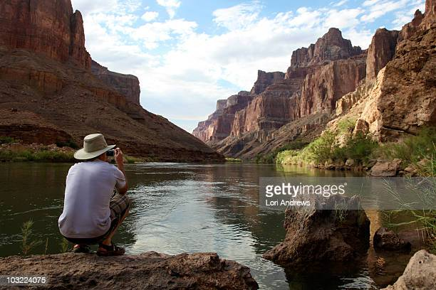 Tourist Below Redwall in the Grand Canyon