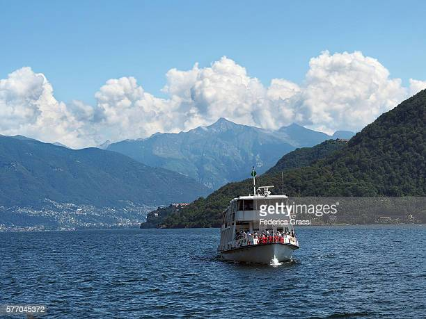 Tourist Boat Arriving At Cannobio