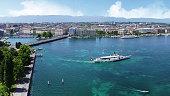 Tourist Boat Excursion on Lake Geneva, Switzerland