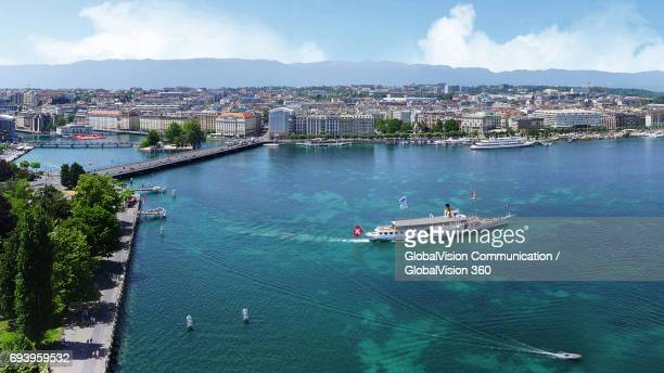 Tourist Boat Excursion on Lake Geneva, Switzerland