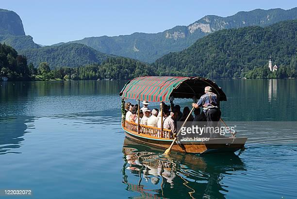 Tourist boat, Ljubljana, Slovenia