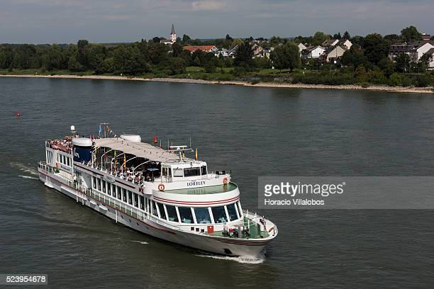 Tourist boat Loreley sails the Rhine river past Bonn, Germany, 09 September 2014. Bonn, that offers many touristic attractions, was founded in the...