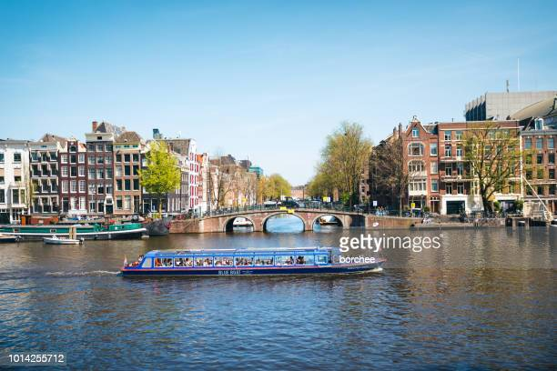 Tourist Boat On Amstel River