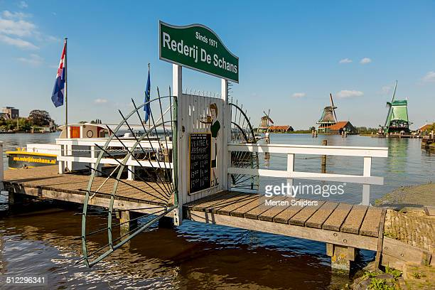 tourist boat tours at zaanse schans - merten snijders stock pictures, royalty-free photos & images